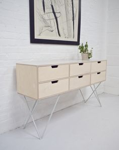 Leonard sideboard is made of Birch plywood with sculptural ...