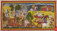 Image: Bharata Leaves Rama in the Forest