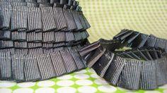 1 m supersüßes Faltenband in grau!!! von kleiner Stern auf DaWanda.com