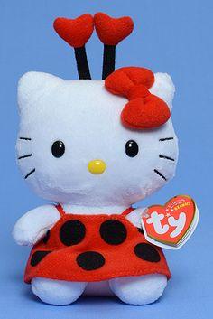 Hello Kitty (ladybug) - cat - Ty Beanie Babies