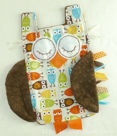Urban Zoologie Owls Ribbon Tag Baby Blanket by LifeInTheSassLane, $23.50