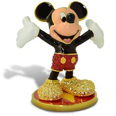 Limited Edition Jeweled Mickey Mouse Figurine with Base by Arribas | Figurines & Keepsakes | Disney Store