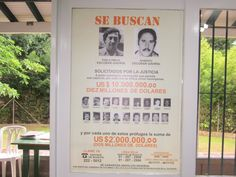 One of the original wanted posted for Pablo Escobar and his associates....