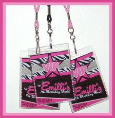 retro neon vip pass backstage pass vip invitation birthday, party invitations