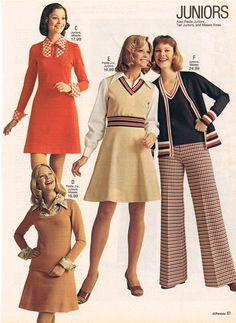 Jugendmode - 1975 - Pages - Retro 60s Fashion Trends, 60s And 70s Fashion, Seventies Fashion, Junior Fashion, Teen Fashion, Retro Fashion, Vintage Fashion, Womens Fashion, High Fashion