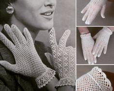 Patron de crochet pdf de tejido crochet guantes patron de