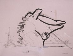 lucinda rogers ink drawing new york city USS Intrepid pier 66 aircraft carrier geese