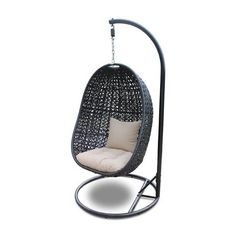 Harmonia Living Nimbus Patio Hanging Chair ($1,045) ❤ liked on Polyvore featuring home, outdoors, patio furniture, outdoor chairs, beige cushion, outside swing, patio chairs, outdoor glider chair, outdoor patio furniture and outdoors patio furniture