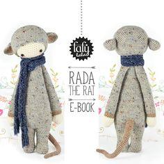 """HÄKELANLEITUNG Puppe """"RADA die Ratte"""" PDF von lalylala - handmade auf DaWanda.com"""