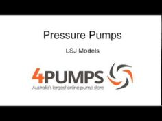 Purchase high pressure water pumps for reliability and dependability from Australia's Largest Online Pump store.  The new 2014 LSJ series has landed and is already becoming the most demanded constant pressure pro-series pump by Aussies and Kiwis alike! The LSJ pressure pumps series are the solution for constant and stable 'on-demand' pressure that automatically fires up and shuts down on opening/close of any tap.