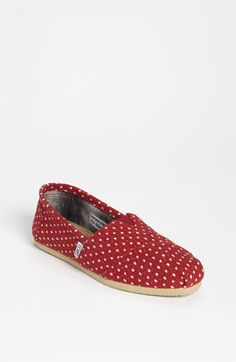 TOMS 'Classic - Dot' Woolen Slip-On