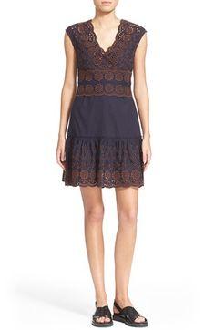 SEE BY CHLOÉ Broderie Anglaise Cotton Poplin Dress. #seebychloé #cloth #
