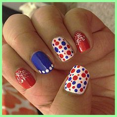 teeyu274's festive tips. Show us your 4th of July-inspired nails! Tag your pic #SephoraNailspotting to be featured on our social sites.