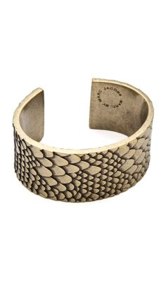 so cute!  the only animal print i like ;)Marc by Marc Jacobs Petal to the Metal Dragon Cuff