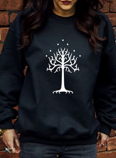 White Tree of Gondor Symbol Jumper Hoodie Lord Of The Rings Hobbit Hoodie J1101 in Clothes, Shoes & Accessories, Men's Clothing, Hoodies & Sweats | eBay