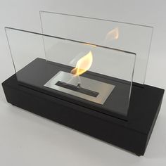 "Nu-Flame Incendio - Table Top Ethanol Fireplace (NF-T1INO) - Chic enough for any executive desk or formal tablescape, Incendio is the perfect option to candles, it's soft and romantic. #29""-and-Less #Ethanol #Free-Standing. Modern Blaze"