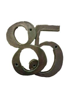Clay house numbers - can be a gift