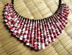Cherry Blossom necklace  Chunky necklace  Christmas by PaperMelon, $68.00