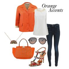 """Orange Accents"" by marissacollections on Polyvore"