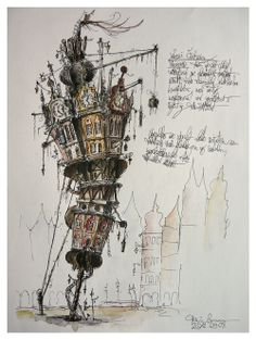 archisketchbook - architecture-sketchbook, a pool of architecture drawings, models and ideas - propaedeuticist: fantasy towers on & of paper -...