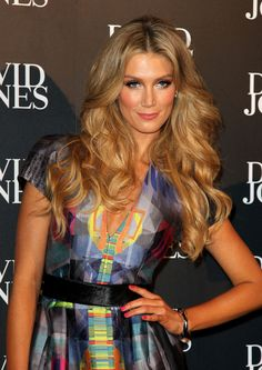 Delta Goodrem working all that hair!