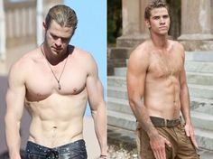 Celebrity Siblings - Chris and Liam Hemsworth! Hemsworth Brothers, Liam Hemsworth, Pretty People, Beautiful People, Beautiful Things, Celebrity Siblings, The Odd Ones Out, Mickey Rourke, Crazy Kids