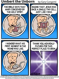 Umbert the Unborn - such a great pro-life cartoon :)