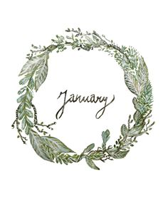 10 Wonderful Things to Make, Do and Celebrate in January! Bullet Journal Titles, Book Journal, Hello January, January Book, January Quotes, January Wallpaper, New Year Calendar, Birds In The Sky, Wreath Watercolor