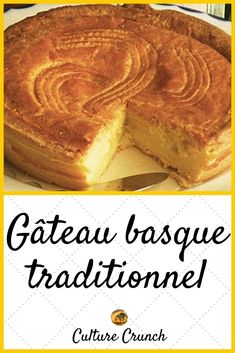Pastry Recipes, Dessert Recipes, Cooking Recipes, Gateau Basque Recipe, Basque Cake, Cake Recipes From Scratch, Homemade Cake Recipes, Almond Cakes, Gluten Free Cakes