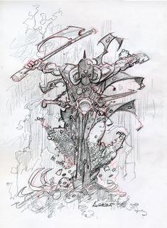 Frank Frazetta's Death Dealer by Azpiri (Prelim) Comic Art