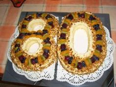 Geburtstagstorte  -  Zahlentorte zu Opas 80. Geburtstag Rezept - Rezepte kochen - kochbar.de - mobil