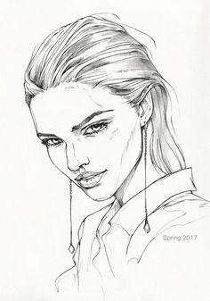 Quick pencil sketch on paper. Model: Sasha Luss ---------- My links: Buy prints Facebook Instagram Behance Artstation &...