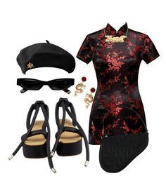 A fashion look from December 2017 featuring Maison Margiela sandals, Christian Dior handbags and ASOS earrings. Browse and shop related looks. Kpop Fashion Outfits, Stage Outfits, Edgy Outfits, Polyvore Outfits, Polyvore Fashion, Aesthetic Fashion, Aesthetic Clothes, Kpop Mode, Jugend Mode Outfits