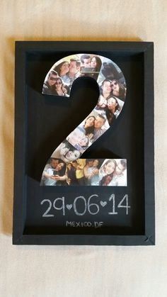 Two years #anniversary #couple #craft #gift #boyfriend #love Más Más