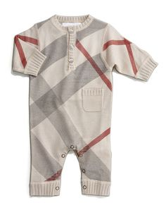 Burberry Check Jumper - (Neiman Marcus) Okay. So, I know this is super branded, but it's also incredibly cute. Gotta admit that I LOVE it! Baby Boy Fashion, Toddler Fashion, Kids Fashion, Fashion Games, Baby Boys, Toddler Boys, Baby Boy Outfits, Kids Outfits, Burberry Baby Boy