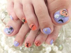 I am unfolding before you 10 unique Halloween toe nail art designs, ideas, trends & stickers of Have a look at the collection. Nail Art Designs, Holiday Nail Designs, Pedicure Designs, Creative Nail Designs, Holiday Nails, Nail Polish Art, Toe Nail Art, Feet Nail Design, Nails Design