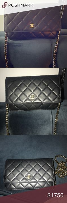 Chanel Wallet on Chain WOC Black quilted lamb skin WOC. Purchased December  2016 14d9f39d19c6f
