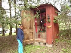 Decorated Outhouse.