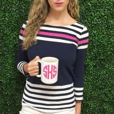 Monogrammed mug.. And this one has my initials in the pic!!