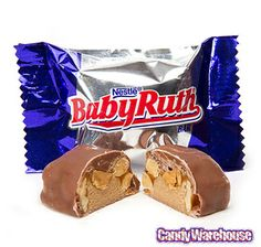 Baby Ruth Mini Size Candy Bars: 5LB Bag