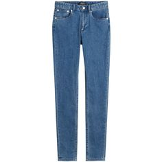 A.P.C. Skinny Jeans ($97) ❤ liked on Polyvore featuring jeans, pants, bottoms, blue, skinny jeans, blue denim jeans, fitted jeans, zipper jeans and button-fly jeans