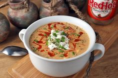 Low Carb Crockpot Buffalo Chicken Soup Shared on https://www.facebook.com/LowCarbZen