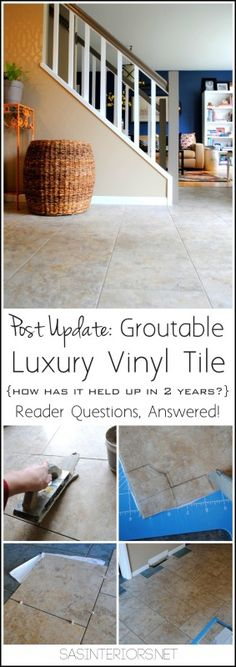 Post Update: Groutable Luxury Vinyl Tile, an amazing alternative to cermamic tile.  How has it held up in 2 years?  Reader Questions, ANSWERED!  You will not believe how this flooring will change your life.