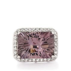 A charming Ring from the Annabella collection, made of Sterling Silver featuring 13.86cts of amazing Blueberry Quartz and White Topaz.