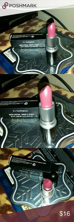 """Very pretty Mac lipstick in """"Amorous"""" NIB This is a wonderful satin color of red and wine shades! Never been used at all in anyway and smells so yummy :))))Thanks so much for looking and please bundle for a better savings;)))Firm!AWESOME gift with purchase! MAC Cosmetics Makeup Lipstick"""