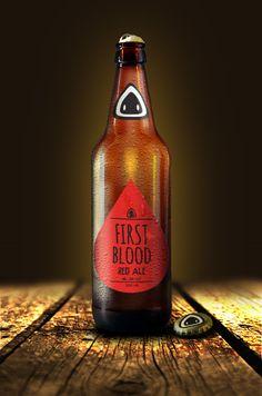 First Blood Beer by João Pedro Freitas Bonorino, via Behance