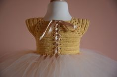 8ef2aa0b9bf SAMPLE SALE ready to ship size 1-2 years gold crochet tutu