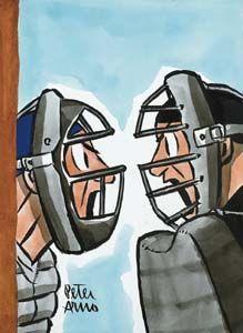 umpire clip art | Baseball Umpire Signaling You're Out - Royalty ...