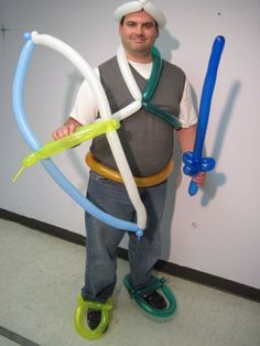 www.balloontwisting.net. Minute game idea. All teams must use balloons to create an armor for their warrior