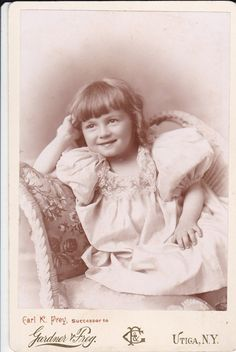 5 Antique Cabinet Card Photos Little Girls Babies by Sfuso on Etsy,